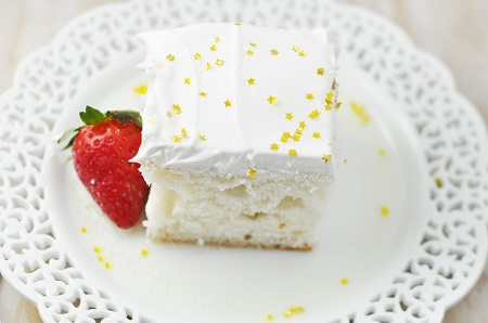 Champagne Poke Cake