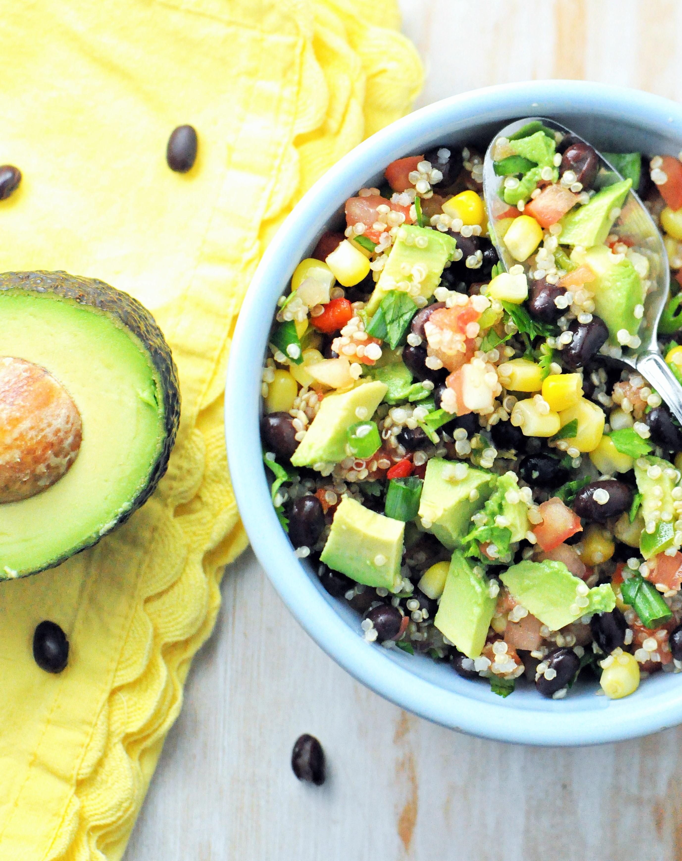 Post image for Zesty Black Bean Quinoa Avocado Power Bowl {Vegan, Vegetarian, Gluten-Free}