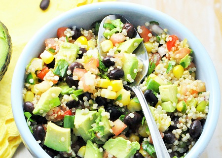 Zesty Black Bean Quinoa Avocado Power Bowl {Vegan, Vegetarian, Gluten-Free}