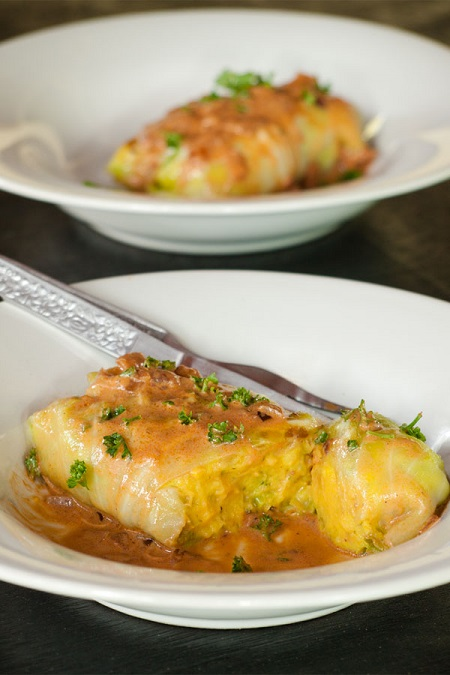 Vegetarian Stuffed Cabbage Rolls Recipe