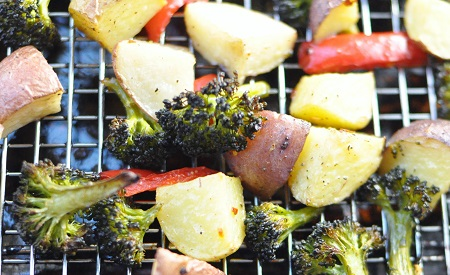 Roasted Vegetables {Potato, Red Pepper, and Broccoli}