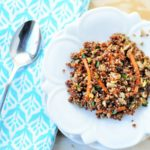 Garlicky Turmeric Red Quinoa Salad Recipe