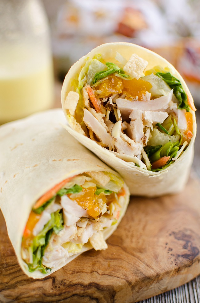 Greek Turkey Wraps